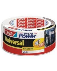 Tesa Ruban adhésif universel extra power blanc, 50 mm x 25 m, 56388-205