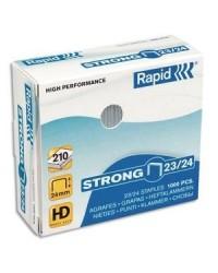 Rapid Agrafes 23/24, Strong, Galvanisé, Boîte de 1000, 24870500