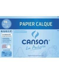 Canson pochette 12F papier calque 70G A4 200006565