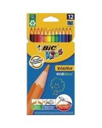Bic kids, Crayons de couleur Evolution, étui de 12, 82902910