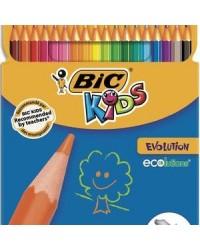 Bic kids Crayons de couleur Evolution, étui de 18, 829728