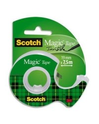 3M Scotch Ruban adhésif Magic 810, avec devidoir, invisible, A1126