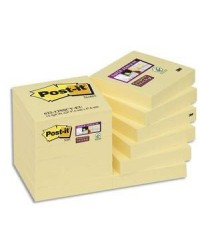 Post-it Notes adhésives, 51x51mm, Super sticky, JAUNE, Lot de 12, 622-12SSCY / BP825 / 70005197937