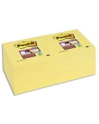 Post-it Notes adhésives, 76x76mm, Super sticky, JAUNE, 654-SSCY-EU / BP827 / 70005197887