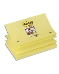 Post-it Recharge 90 notes adhésives, Z-Notes, 76x127mm, JAUNE, Super sticky, R350-12SS-CY / BP840