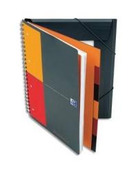 Oxford cahier ORGANISERBOOK A4+ 160 pages Lignées 6MM + Chemise et trieur 100100462