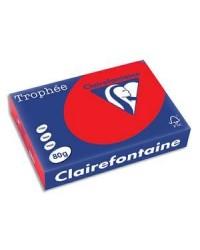 Clairefontaine ramette 500F papier A4 TROPHEE 80G ROUGE CORAIL 8175C