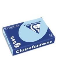 Clairefontaine ramette 500F papier A4 TROPHEE 80G BLEU VIF 1798C