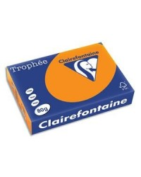 Clairefontaine ramette 500F papier A4 TROPHEE 80G ORANGE VIF 1761C