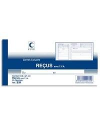 Elve carnet à souche 50F RECUS AVEC TVA 105X210 231
