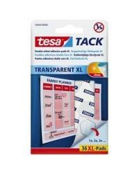 Tesa Tack, Pastilles adhésives, XL, Double face, Transparent, 59404-0000-00
