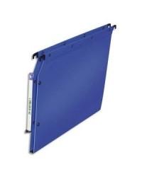 Elba 10 dossiers suspendus plastique armoire fond 15MM polypro BLEU 100330579
