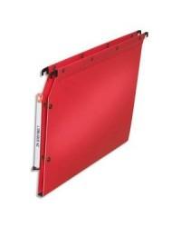 Elba 10 dossiers suspendus plastique armoire fond 15MM polypro ROUGE 100330591