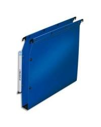 Elba 10 dossiers suspendus plastique armoire fond 30MM polypro BLEU 100330580