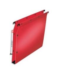 Elba 10 dossiers suspendus plastique armoire fond 30MM polypro ROUGE 100330592