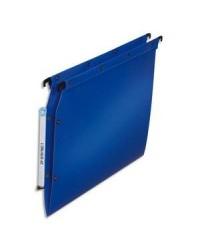 Elba 10 dossiers suspendus plastique armoire fond en V polypro BLEU 100330578