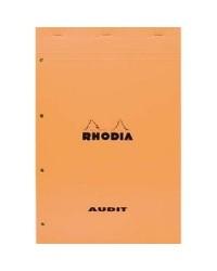 Rhodia bloc AUDIT 210X318 perforé papier jaune 119700