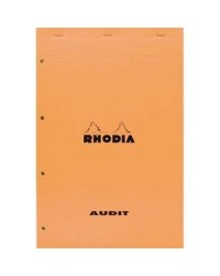 Rhodia Bloc note AUDIT, 210x318mm, Perforé, Papier jaune, 119700C