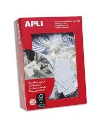 Apli Agipa, Etiquettes Bijouterie, à fil blanc, 15 x 24 mm, 7009