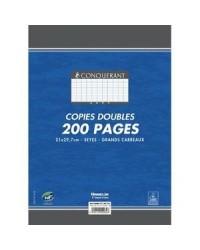 Conquerant étui 200 copies doubles A4 grands carreaux SEYES non perforé 100103718