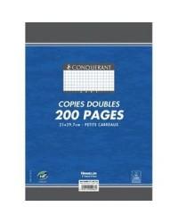 Conquerant Copies doubles non perforées A4, Quadrillé 5x5 petits carreaux, étui de 200, 100102077
