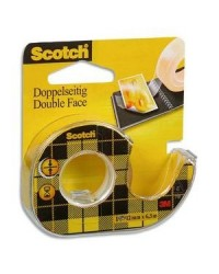 Scotch Ruban adhésif double face 665, 12 mm x 6,3 m, A1131