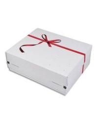 ColomPac Boîte cadeau d'expédition, Taille M, Noeud rouge