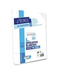 GPV Enveloppes C5, 162x229, Blanches, 80G, Auto adhésives, GPV 528