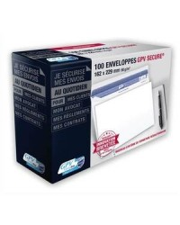 GPV Enveloppes C5 162x229, Blanches, 90g, Secure, GPV 5052