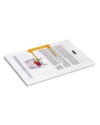Fellowes Relieur d'archives Tube BANKERS BOX, Jaune blanc, Boite de 100, 1189101