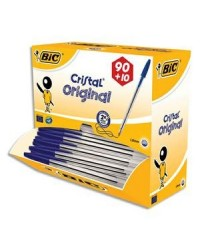 BIC Stylo à bille Cristal Original, VALUE PACK, bleu, 942910