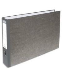 Exacompta Classeur à levier, A3 à l'italienne, dos 70mm, Papier marbré gris, 53810E