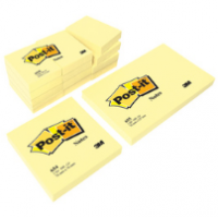 NOTES ADHESIVES REPOSITIONNABLES JAUNE