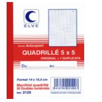 Exacompta 96308E Paquet de 10 Blocs vendeurs format horizontal 100 feuilles avec bande 6,6 x 13,5 cm Violet